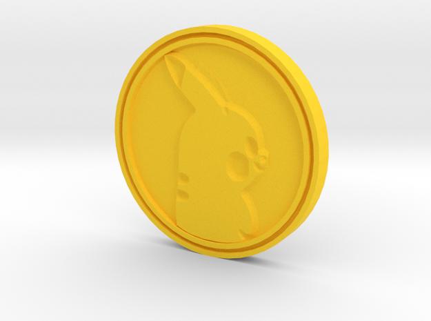 PokeCoin in Yellow Processed Versatile Plastic