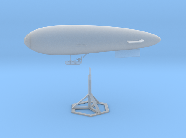 S.S. Zero 1/350 Scale with Display Stand in Smooth Fine Detail Plastic