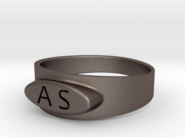 As in Polished Bronzed Silver Steel