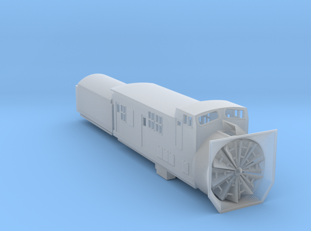 Railroad SnowPlow With Tender - Zscale