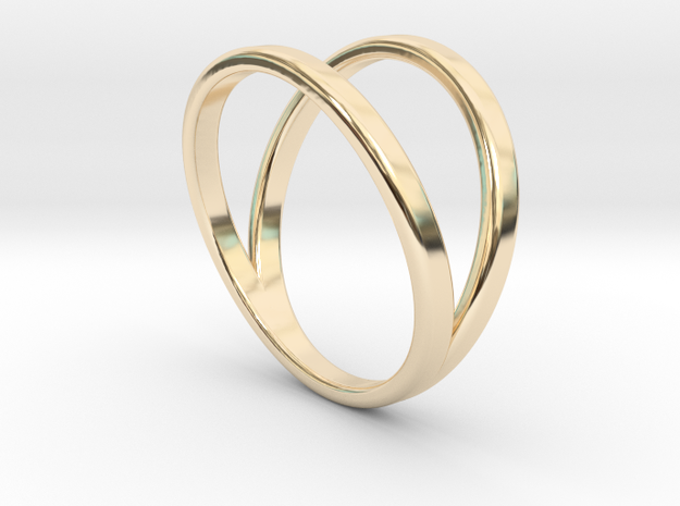 Split Ring Size 11 in 14k Gold Plated Brass