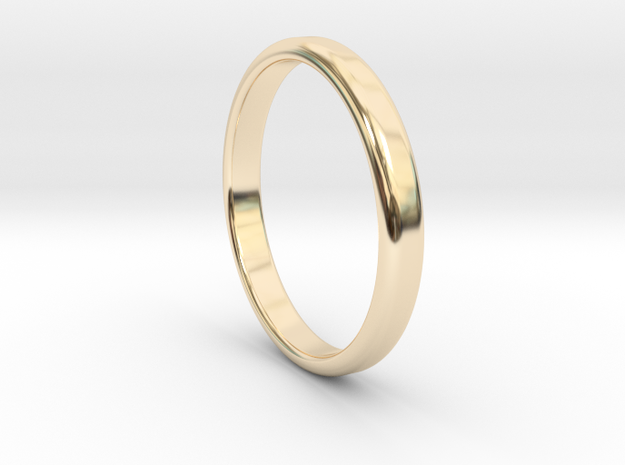 Ring Band Size 10 in 14k Gold Plated Brass