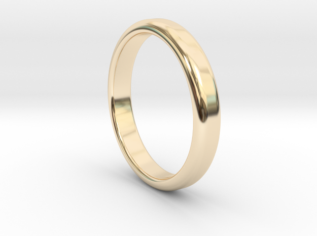 Ring Band Size 5 in 14k Gold Plated Brass
