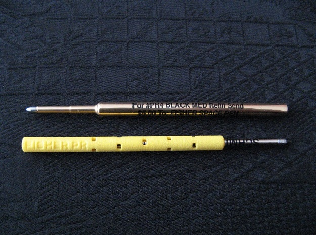 Pen Refill Adapter: Fisher PR to D1 Mini in Yellow Strong & Flexible Polished
