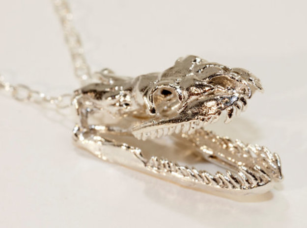 Python Open Jaw 30mm  in Natural Silver