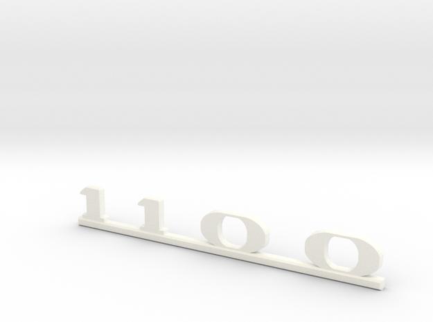 """Immortan Joe """"1100"""" Leg Badge in White Processed Versatile Plastic"""