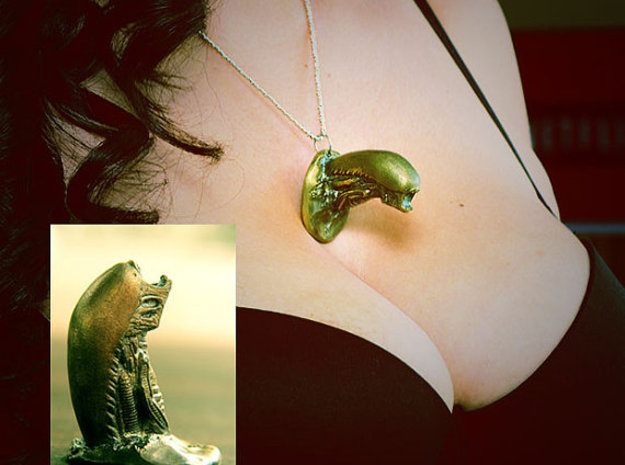 Snalien Bursts out of your Chest Pendant