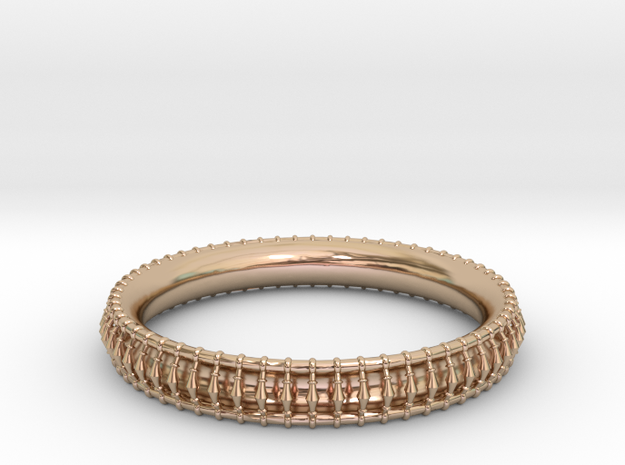 Bracelet 2 in 14k Rose Gold Plated Brass
