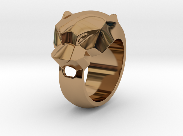 Panther Ring Size 7,2 Hallow in Polished Brass