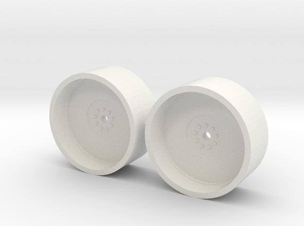 1/64 20.8-42 Dual Rims in White Natural Versatile Plastic