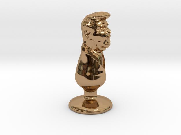 Donald Trump Metal Plug in Polished Brass
