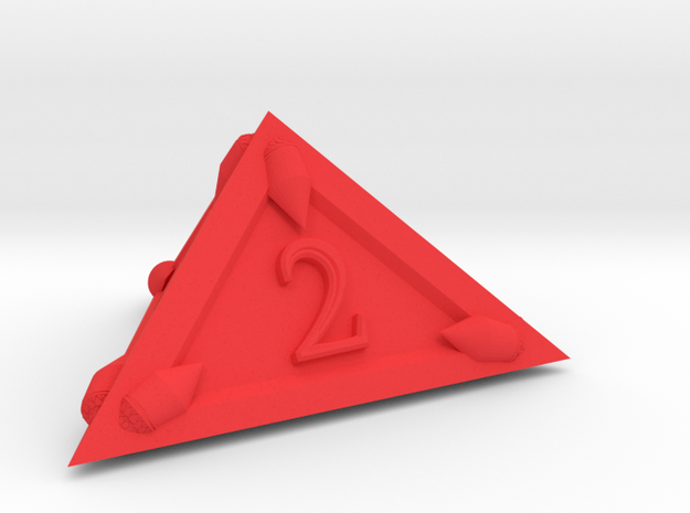 D4 Dragonclaws in Red Processed Versatile Plastic