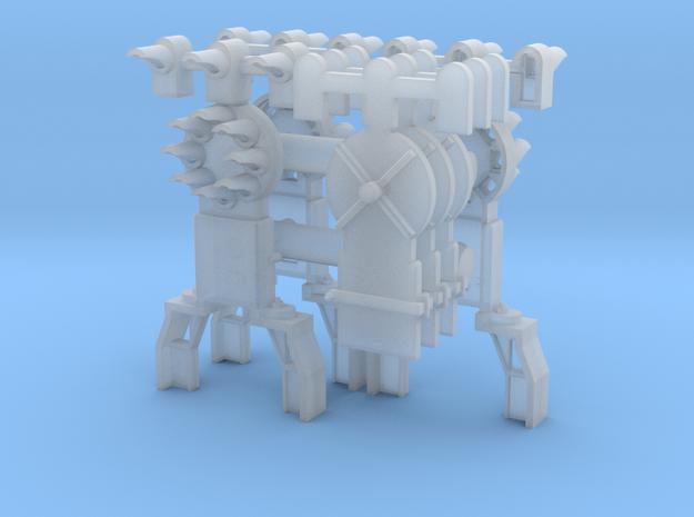 Dwarf B&O CPL-UpperSpdLamps-GndBrkt(3) - HO 87:1 S in Smooth Fine Detail Plastic