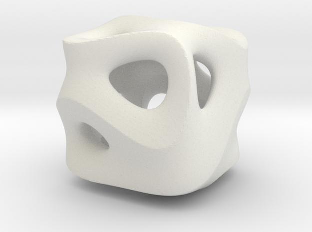 C-Ground Cube in White Natural Versatile Plastic