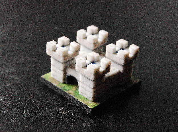 Tiny White Castle in Full Color Sandstone