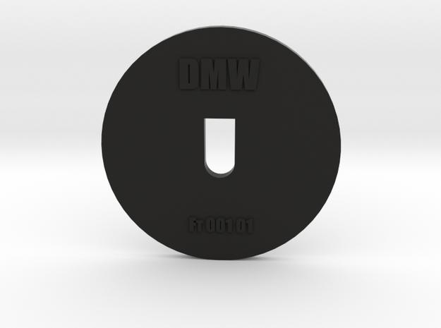 Clay Extruder Die: Footer 001 01 in Black Natural Versatile Plastic