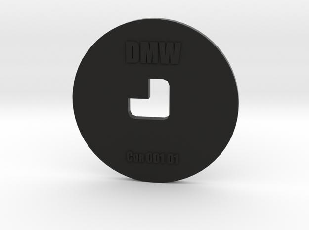 Clay Extruder Die: Corner 001 01 in Black Natural Versatile Plastic