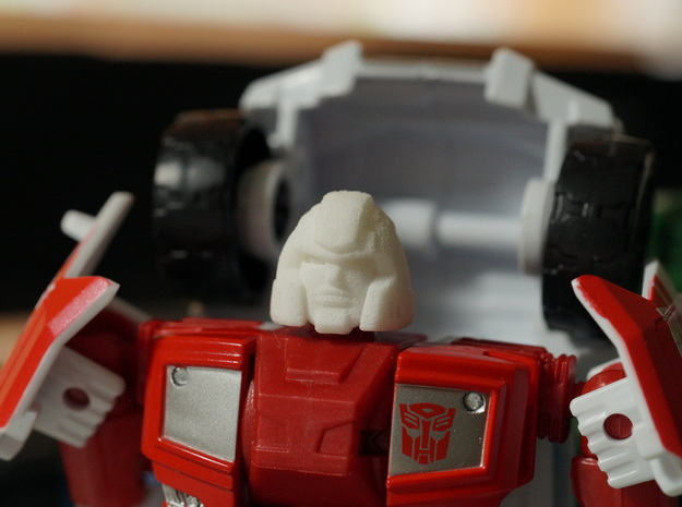 Little Heracles' Head for Combiner Wars Trucks in Frosted Ultra Detail