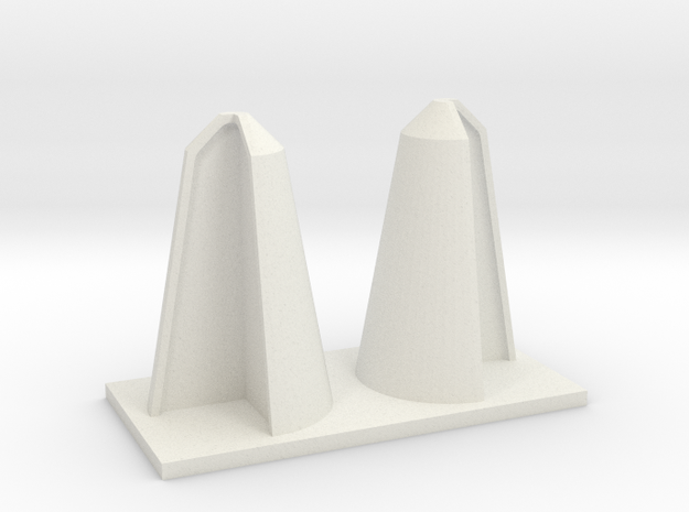 SHORT CORNER BOLLARDS in White Natural Versatile Plastic