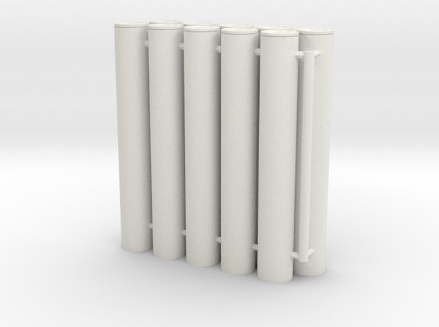 1/16 105mm Ammo in Transport Cases (x10) in White Natural Versatile Plastic