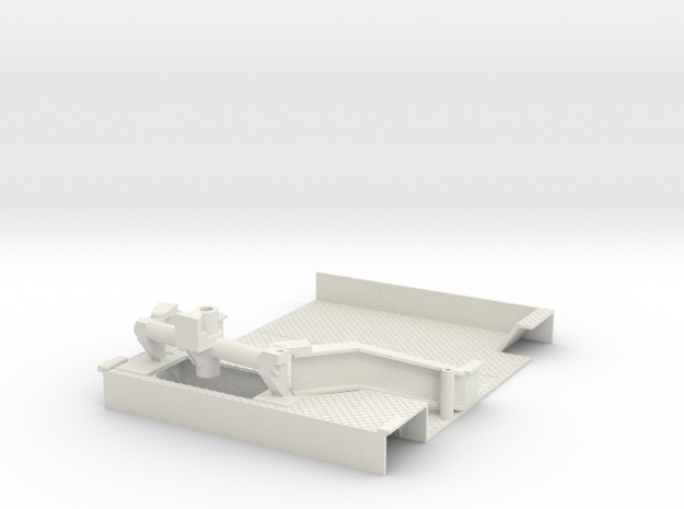 1/16 M7 Priest  Fighting Compartment Floor in White Natural Versatile Plastic