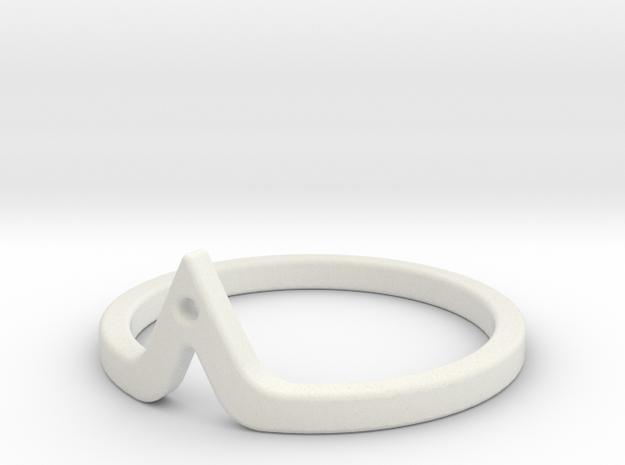 Corner Ring in White Natural Versatile Plastic