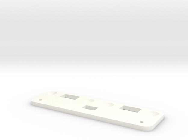 Roller to Switch Conversion Bracket - Jazzmaster in White Processed Versatile Plastic