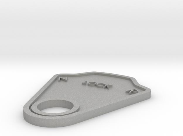 Lock Plate in Aluminum