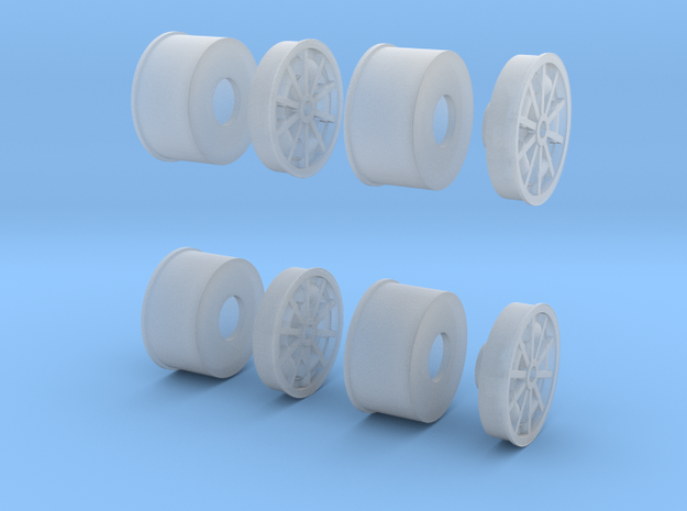 1967 Turbine Wheels 1-20 scale (full Set) in Smooth Fine Detail Plastic