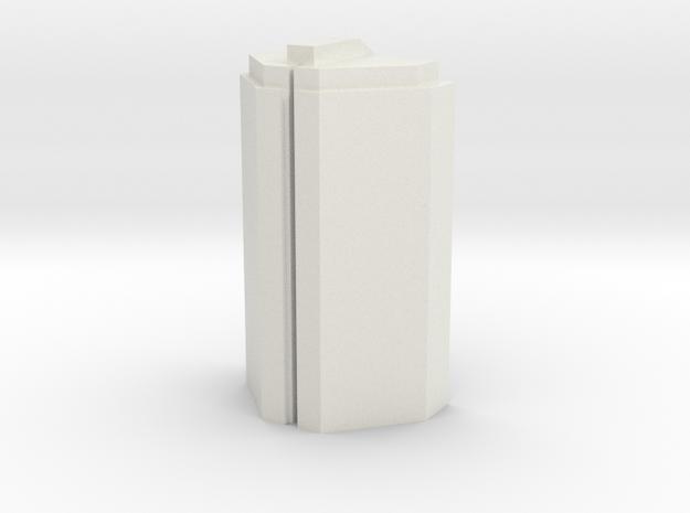 Custom Monopoly Hotel Version 2 (3cm tall) in White Natural Versatile Plastic