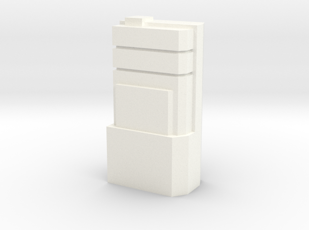 Custom Monopoly Hotel Version 3 (3cm tall) in White Processed Versatile Plastic