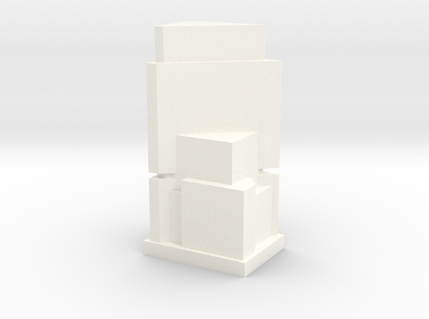 Custom Monopoly Hotel Version 7 (3cm tall) in White Strong & Flexible Polished