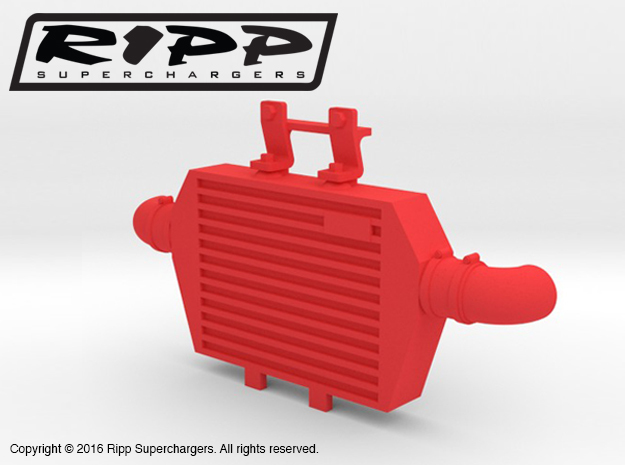 RS10001 Ripp Intercooler JK - RED