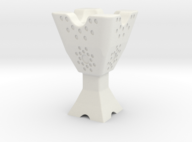 Mabkhara (Censer / Incense Burner) in White Natural Versatile Plastic