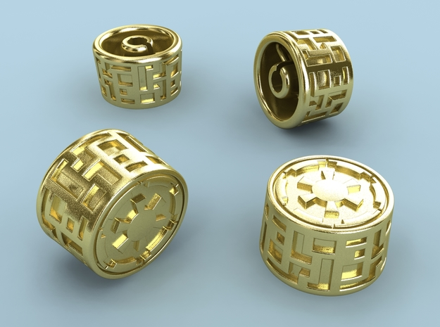 Empire knob (Big) 3d printed Polished Brass render