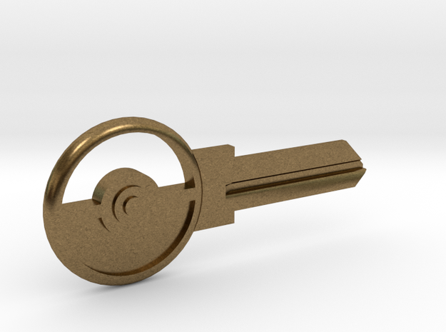 Pokeball House Key Blank - KW1/66 in Natural Bronze