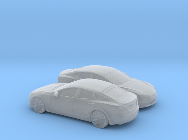 1/148 2X 2012-16 Tesla Model S in Smooth Fine Detail Plastic