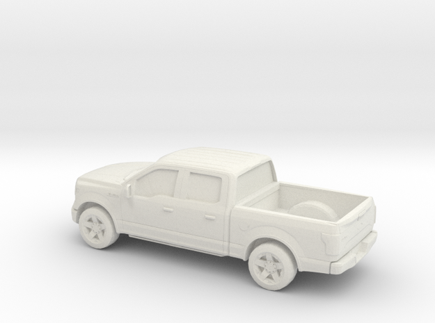 1/64 2015 Ford F 150 Crew Cab in White Natural Versatile Plastic