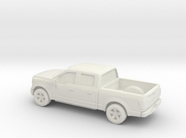 1/64 2015 Ford F 150 Crew Cab in White Natural Versatile Plastic