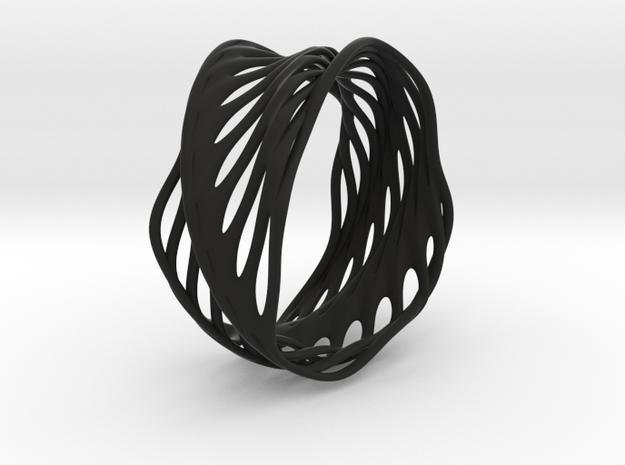 Mila Spiral (size L) in Black Natural Versatile Plastic