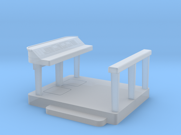 Set-1 CC Captain's Console and Platform in Smooth Fine Detail Plastic
