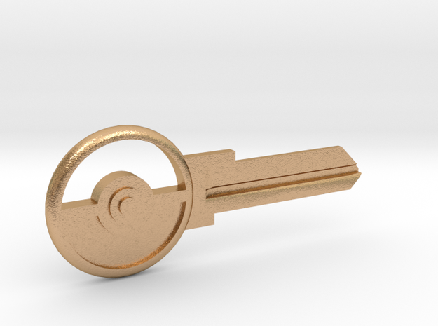Pokeball House Key Blank - KW11/97 in Natural Bronze