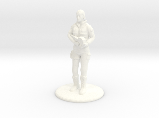 Soldier with P90 - 20 mm in White Processed Versatile Plastic