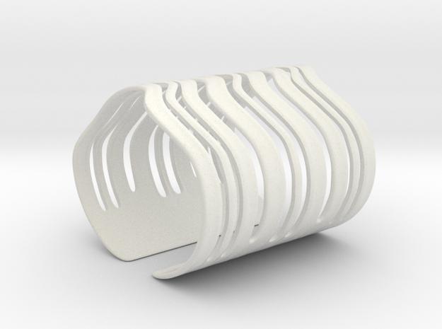 Strands Bracelet (Size M) in White Natural Versatile Plastic