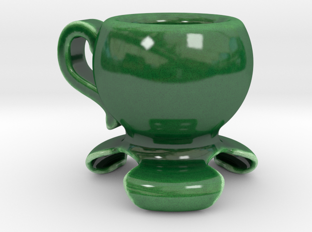 150 ml coffee cup in Gloss Oribe Green Porcelain