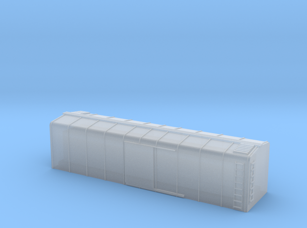 1/450 US 40ft Wagontop Boxcar body shell in Smooth Fine Detail Plastic