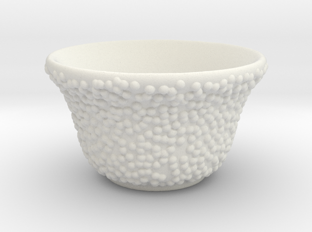 DRAW tea bowl - lumpy bumpies in White Natural Versatile Plastic