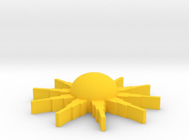 Sunburstpin in Yellow Processed Versatile Plastic
