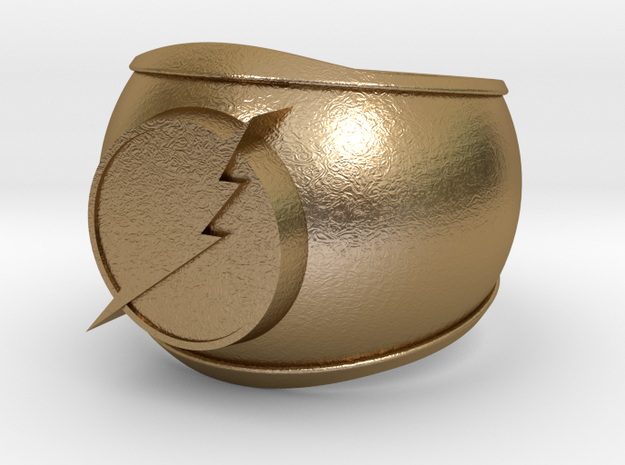 Flash Ring in Polished Gold Steel