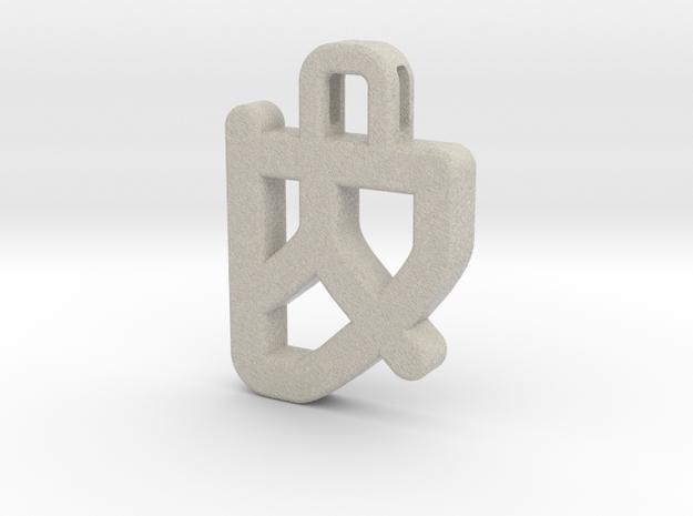 Darwen Heart lock Pendents XL in Natural Sandstone